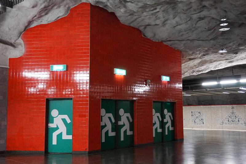 Emergency Exit Art Universitetet Station Stockholm Sweden