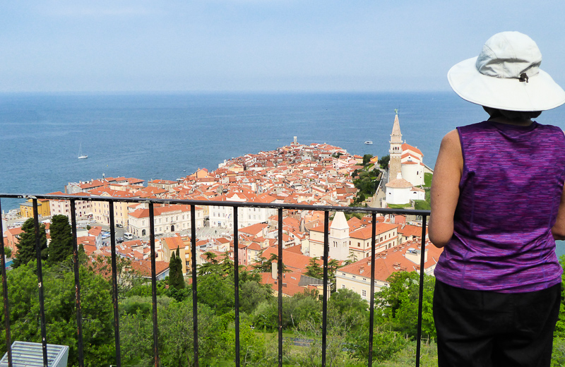 Views from Town Walls Piran Slovenia