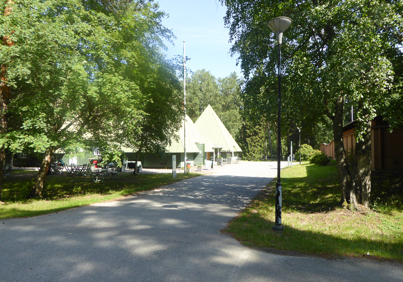 The Visitor Center at Skogskyrkogarden in Stockholm, Sweden, is the architects' old office building.