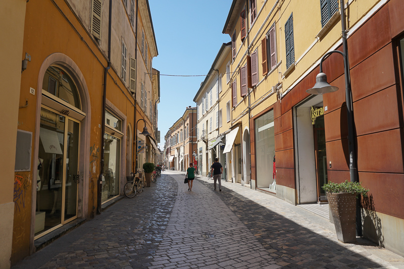 A pretty street in Ravenna, Italy