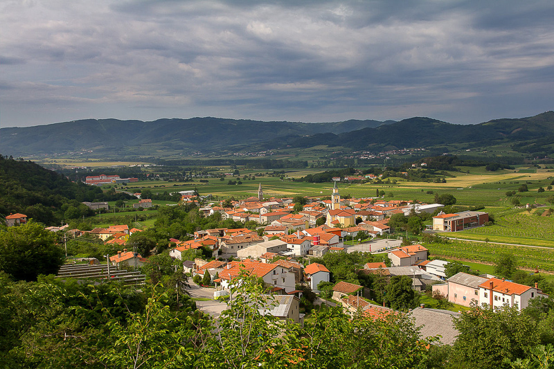 A view of Vipava Valley in Slovenia