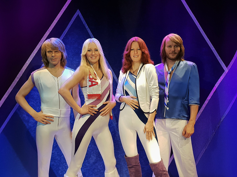 ABBA Figures at Museum in Stockholm Sweden