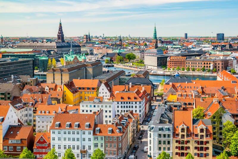 View of Copenhagen Denmark