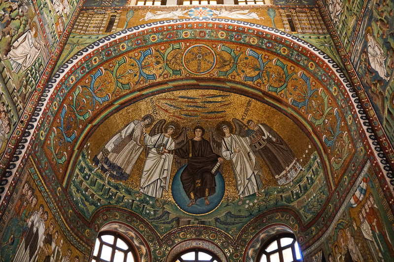 Breathtaking mosaics at the Basilica di San Vitale Ravenna Italy