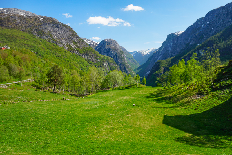 Beautiful Norway Scenery on the way to Flam