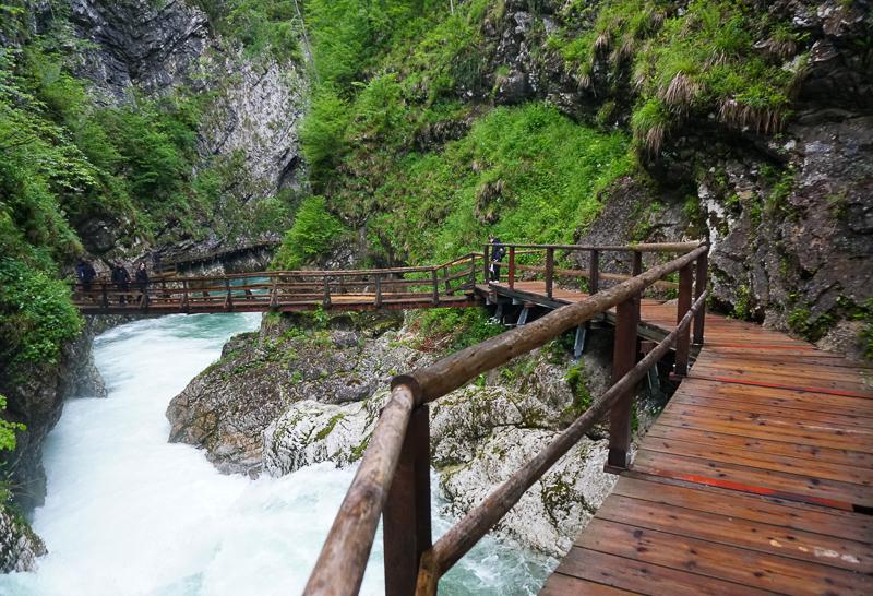 Boardwalks at Vintgar Gorge Slovenia