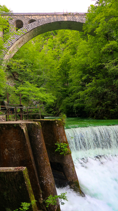 Bohinj Railway Bridge at Vintgar Gorge in Slovenia