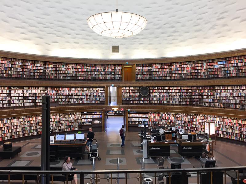 Book Hall Stockholm Public Library, Stockholm, Sweden