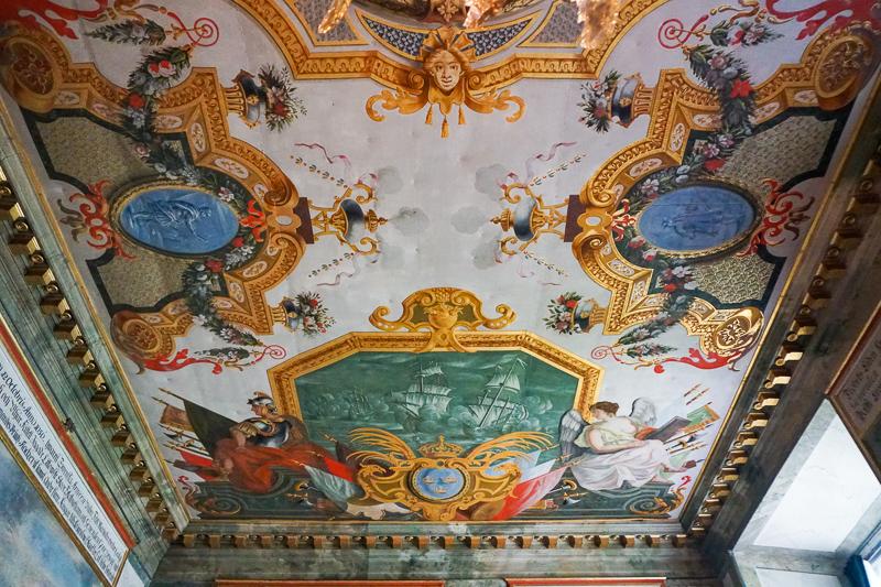 Ceiling Drottningholm Palace Stockholm Sweden
