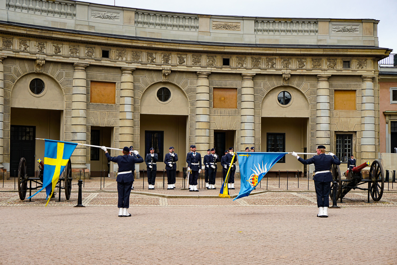 Changing of the Guard Ceremony at the Royal Palace in Stockholm, Sweden
