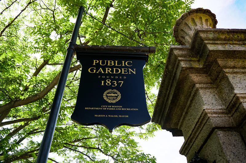 Entrance to the Public Garden in Boston