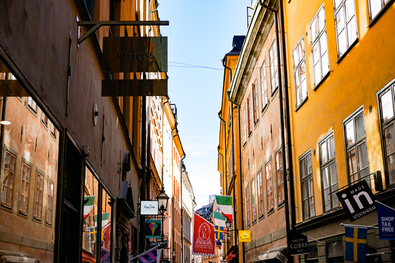 Facades Gamla Stan Stockholm Sweden