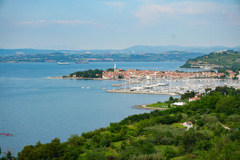 izola, on the coast of Slovenia, lies between Koper and Piran