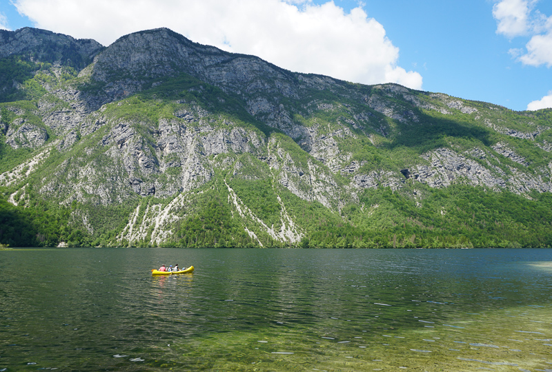 Kayaking Lake Bohinj Slovenia