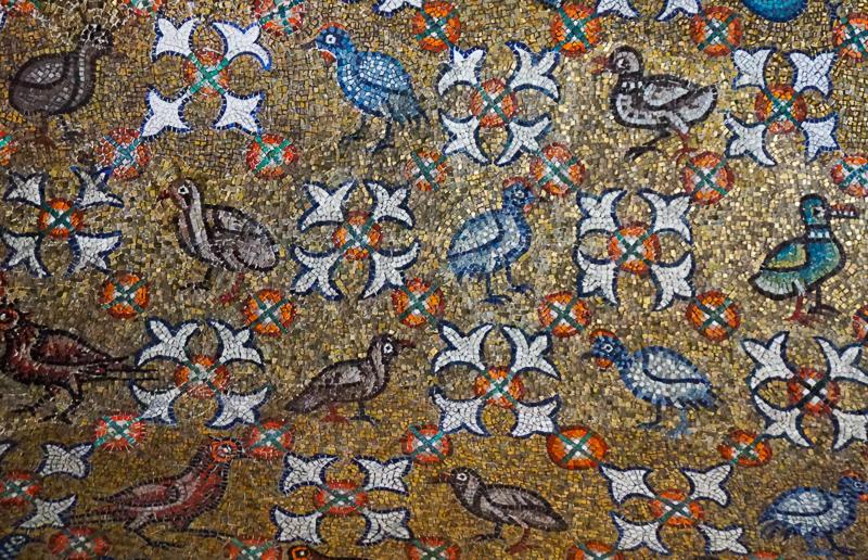 Mosaic Detail Oratory of San Andrea Ravenna Italy