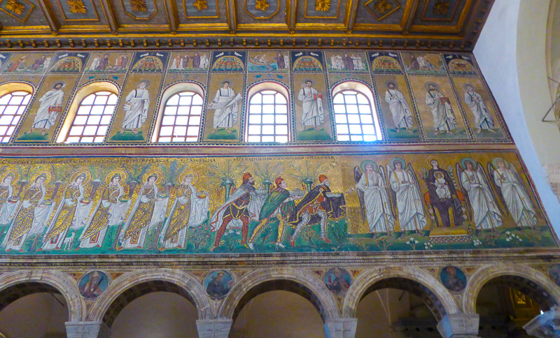 Mosaic Scenes at the Church of Sant'Apollinare Nuovo in Ravenna, Italy