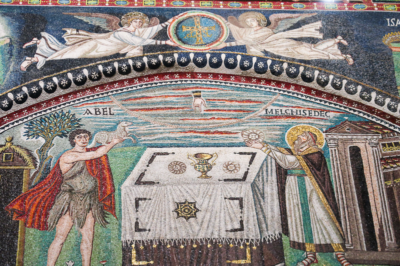 Mosaic art Basilica di San Vitale Ravenna Italy