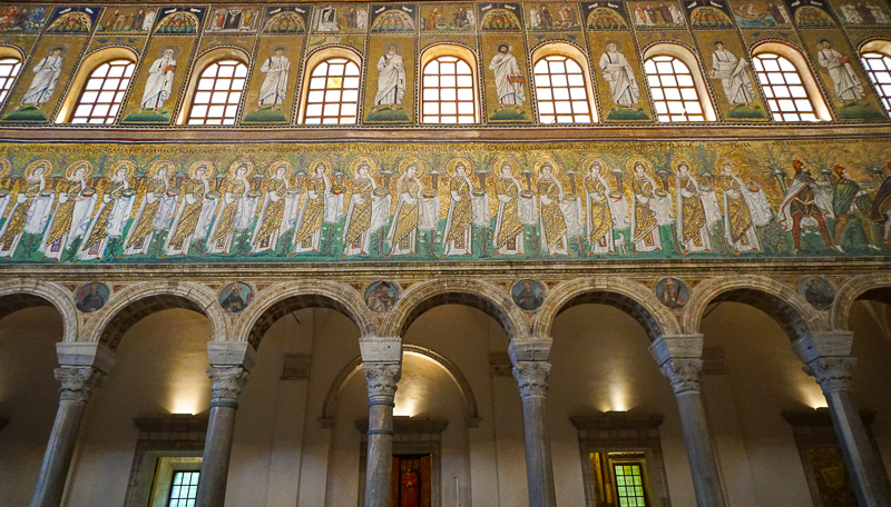 Mosaics Church of Sant'Apollinare Nuovo Ravenna Italy