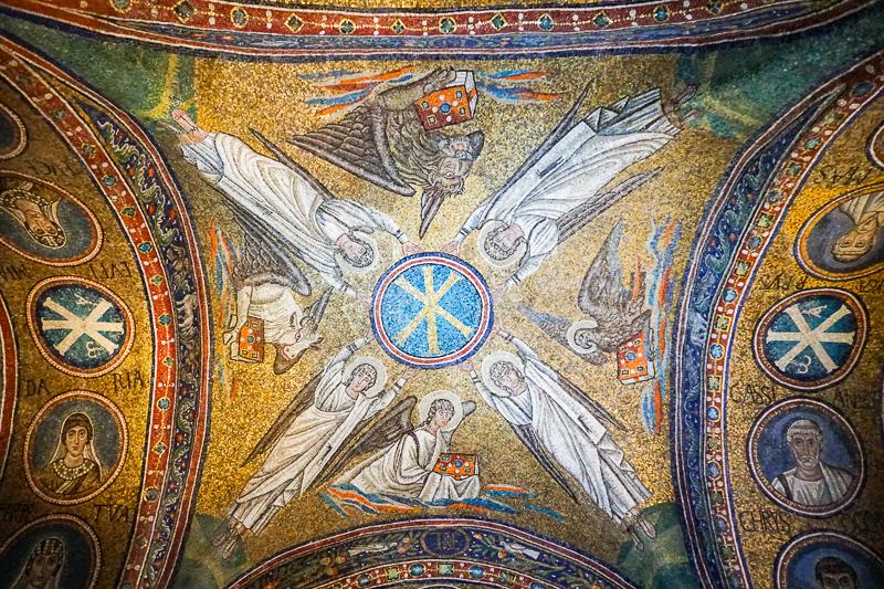 Mosaics Oratory of San Andrea Ravenna Italy