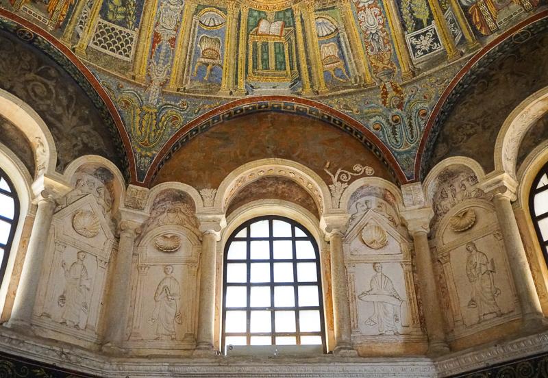 Mosaics at Neon Baptistery in Ravenna, Italy