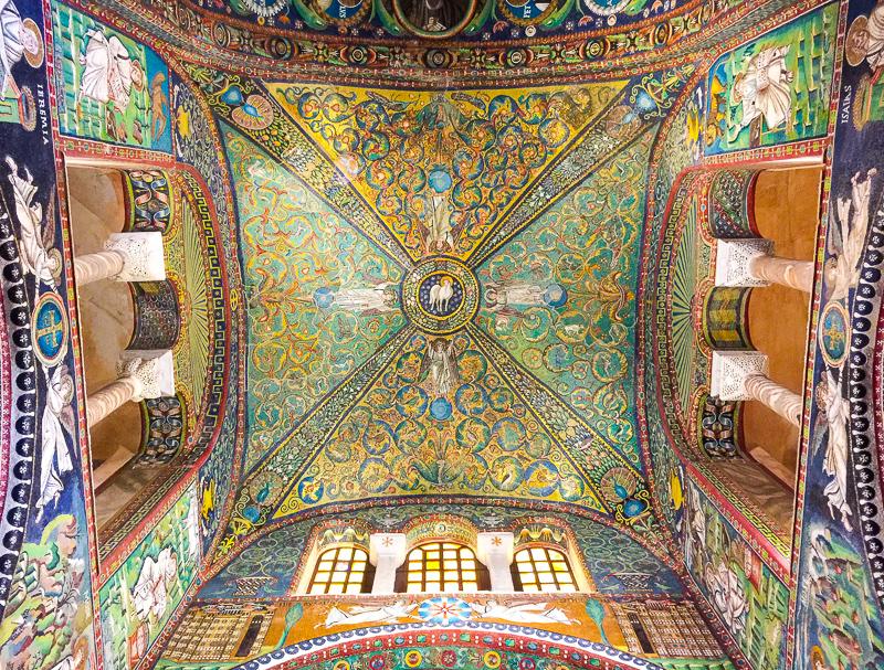 Mosaics in the Basilica di San Vitale Ravenna Italy