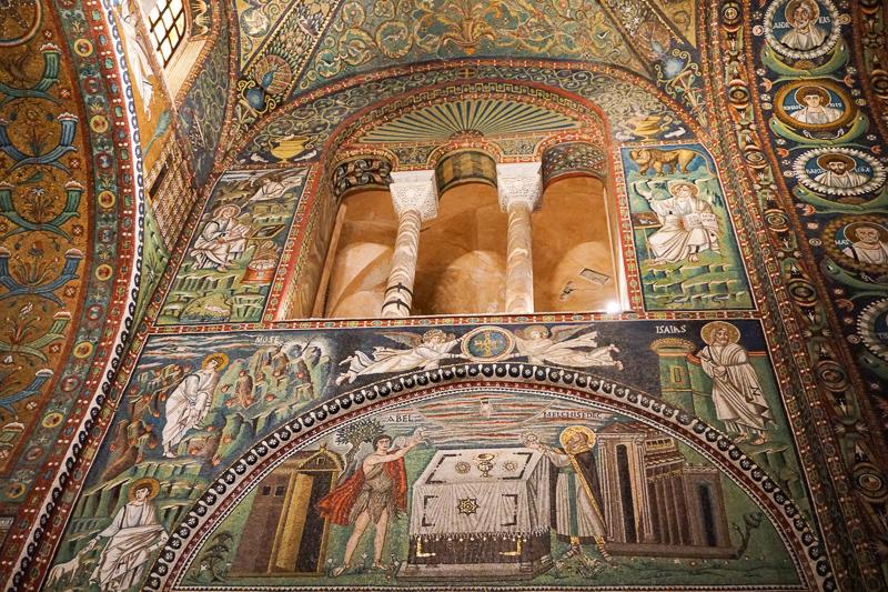 Mosaics in the Basilica di San Vitale In Ravenna Italy