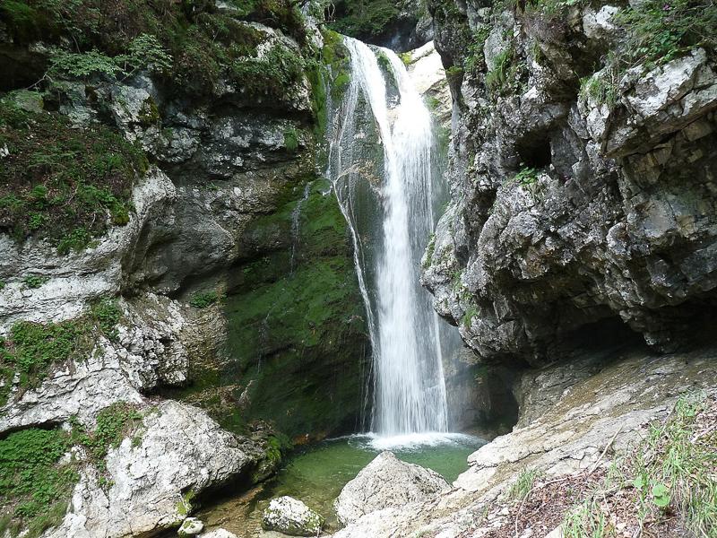 Mostnica Waterfall Voje Slovenia