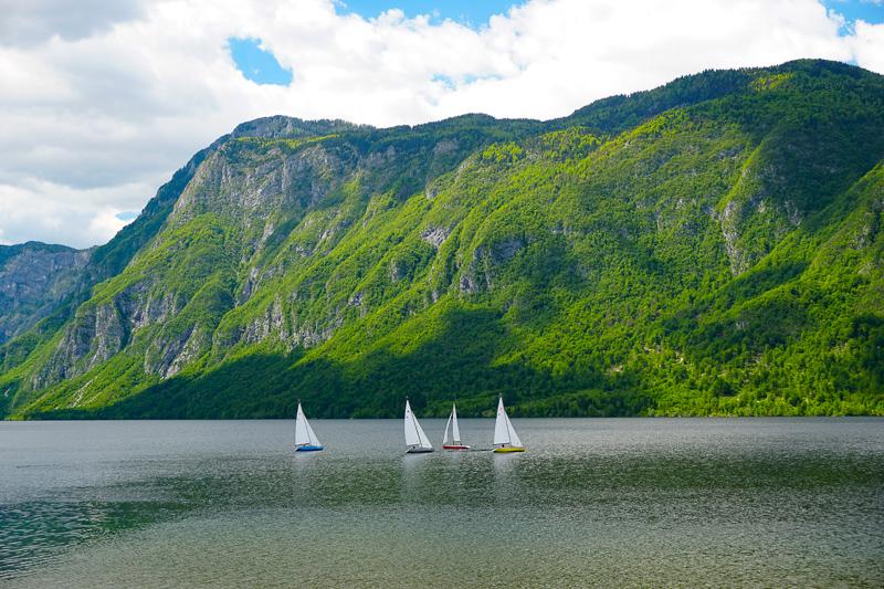 Sailing Lake Bohinj Slovenia