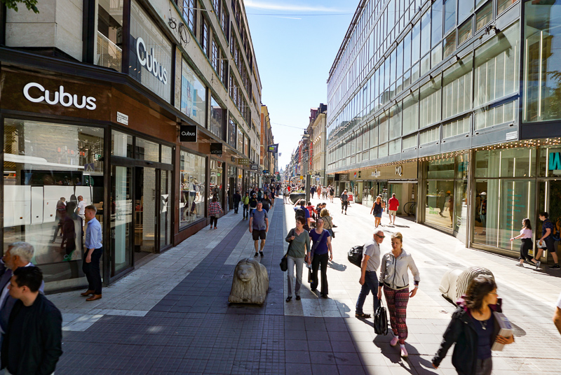 Shopping Street Stockholm Sweden