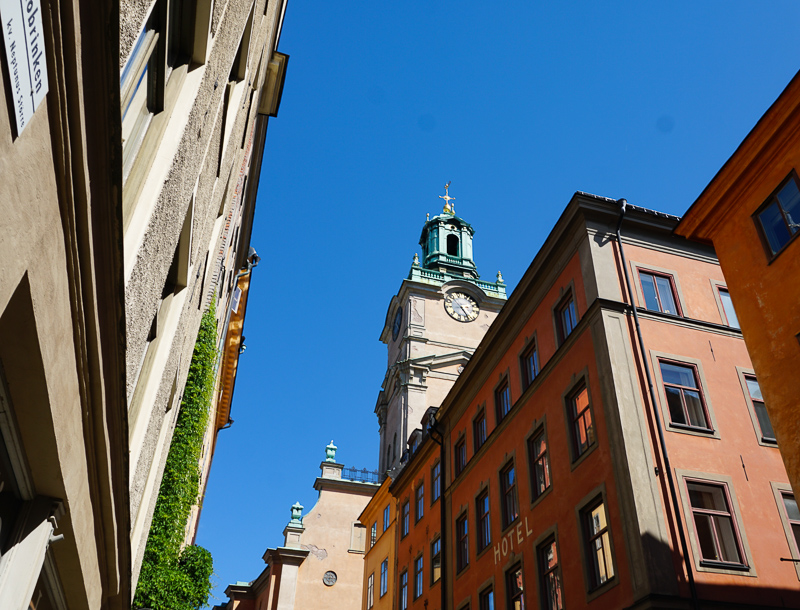 The teal tower of the Stockholm Cathedral