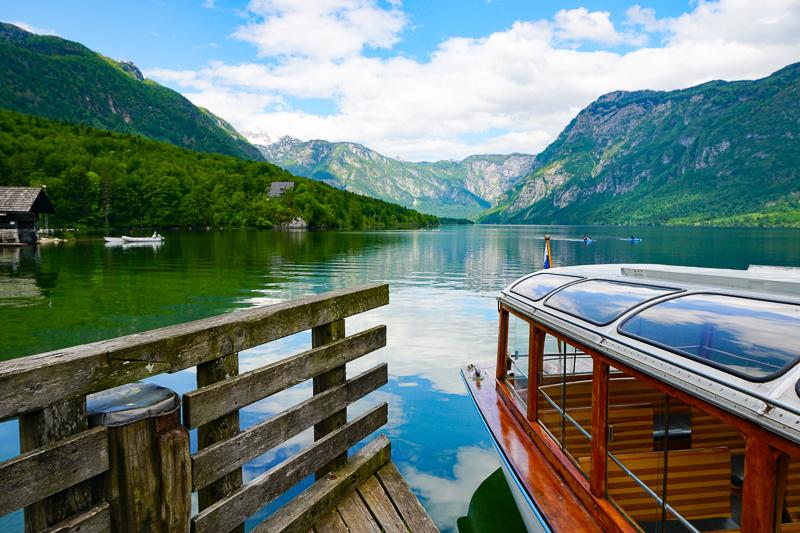 Tourist Boat Lake Bohinj Slovenia