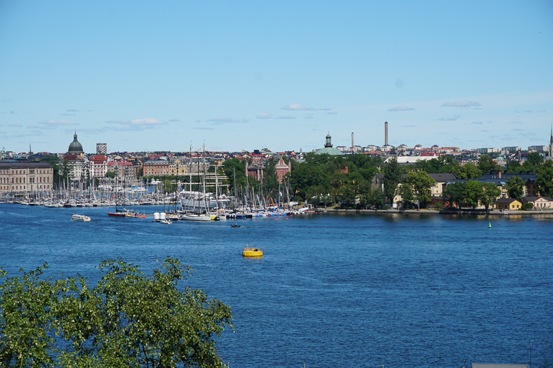 View from Fjallgatan Stockholm