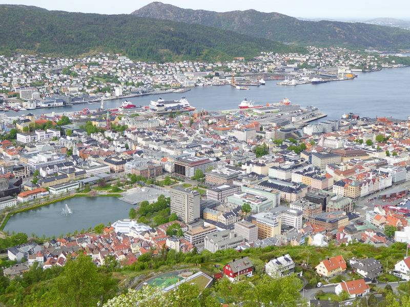 View from Mount Floyen in Bergen, Norway