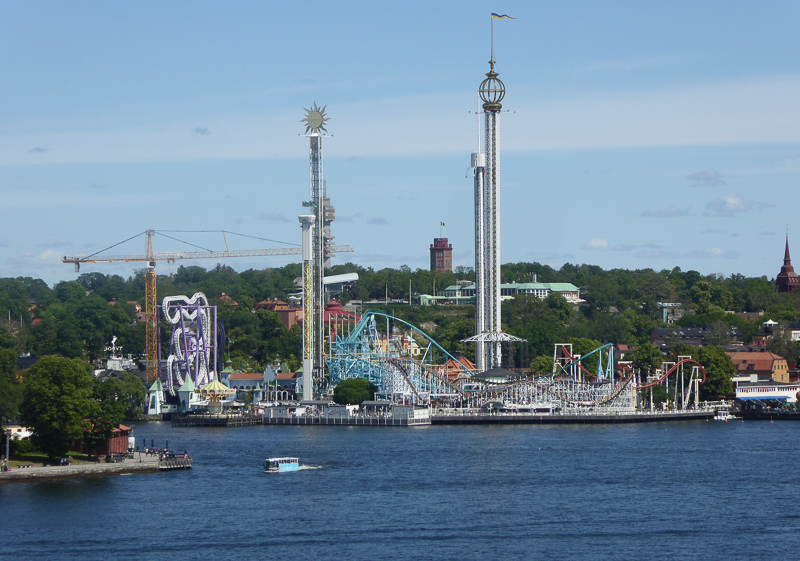 View of Grona Lund Stockholm Sweden