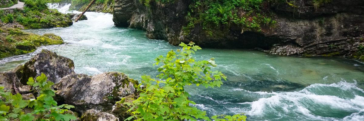 Visiting Vintgar Gorge in Slovenia