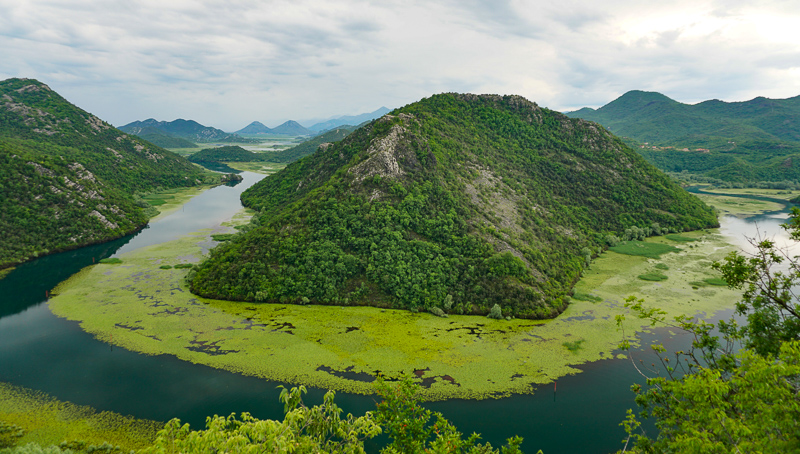 A view of Lake Skadar, Montenegro