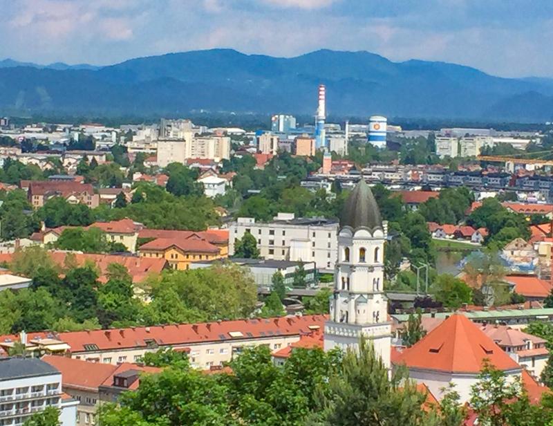 A view of Ljubljana, Slovenia