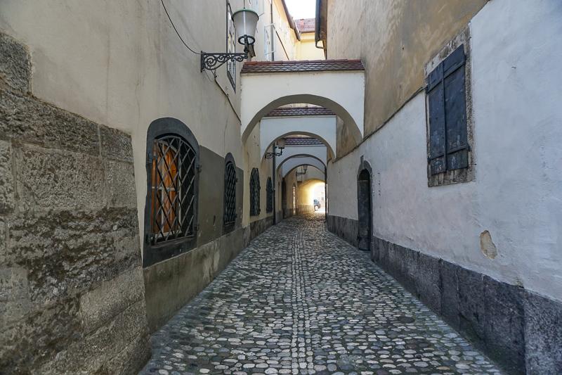 Alley in Ljubljana Slovenia