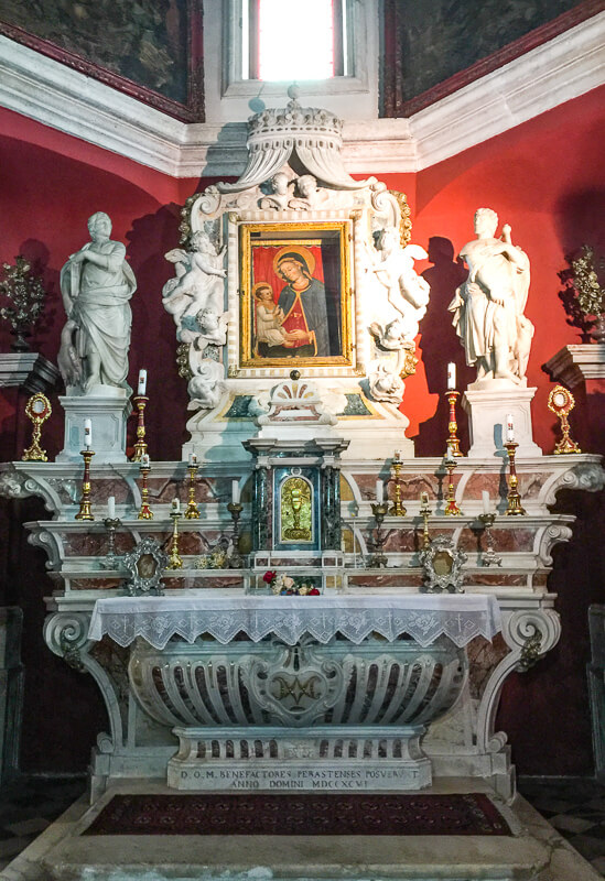 Altar Church of Our Lady of the Rocks Perast Montenegro