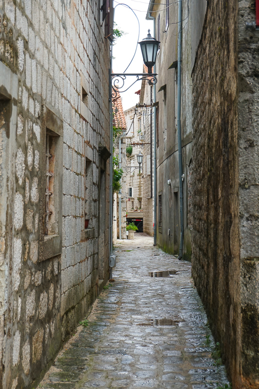 An alley in Perast Montenegro