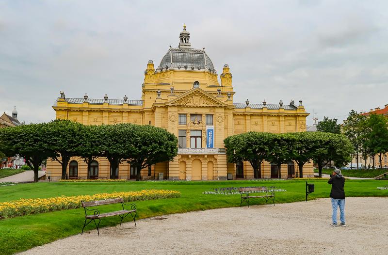 Art Pavilion Tomislav Square Zagreb Croatia