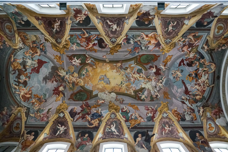 The painted ceiling of the Ljubljana Cathedral