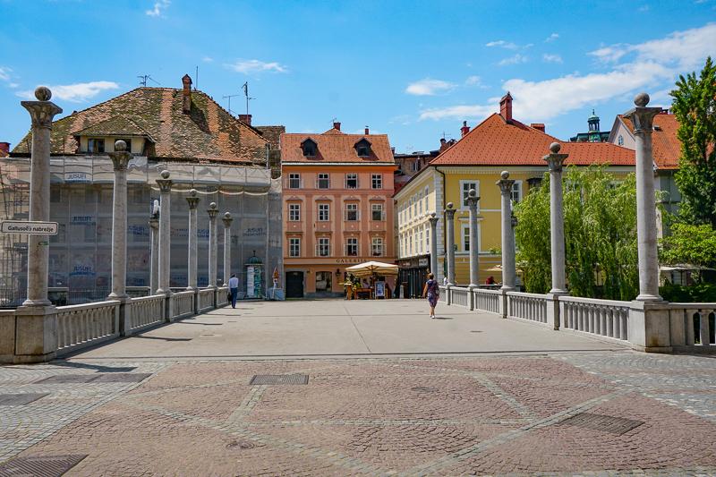 Cobblers' Bridge in Ljubljana, Slovenia