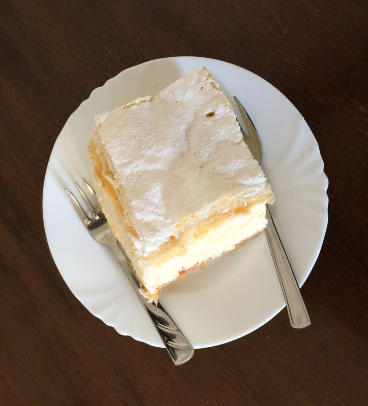 Cream Cake in Samobor Croatia