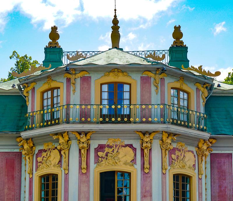 Detail on Facade Chinese Pavilion Drottningholm Palace Sweden