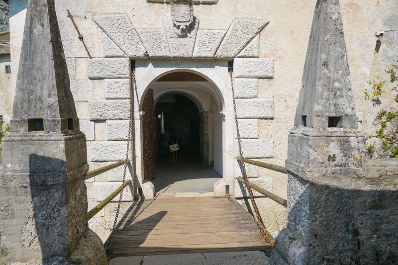 Entrance Predjama Castle Slovenia