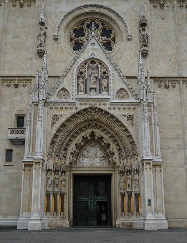 Entrance Zagreb Cathedral Zagreb Croatia