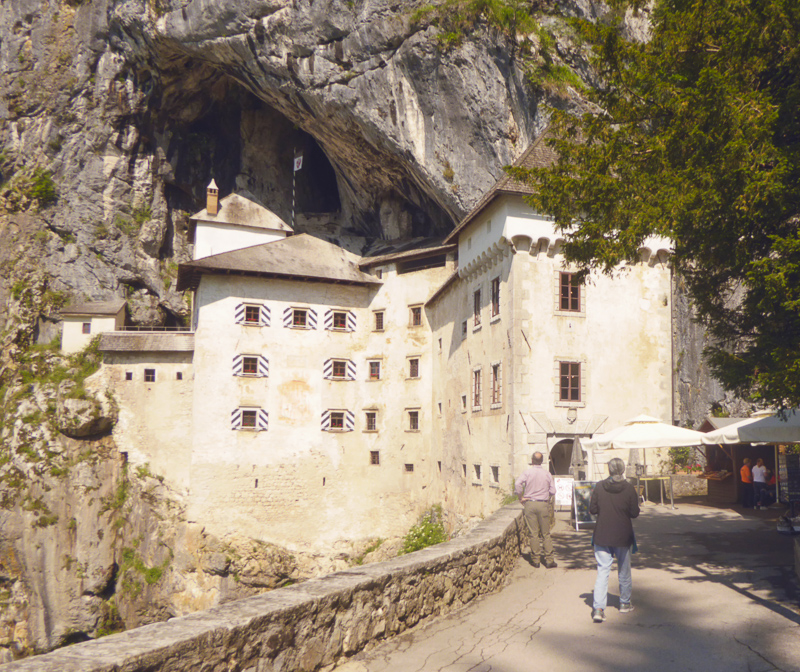 Getting ready to explore Predjama Castle in Slovenia