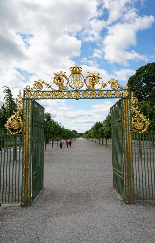 Gilded gates Drottningholm Palace Sweden