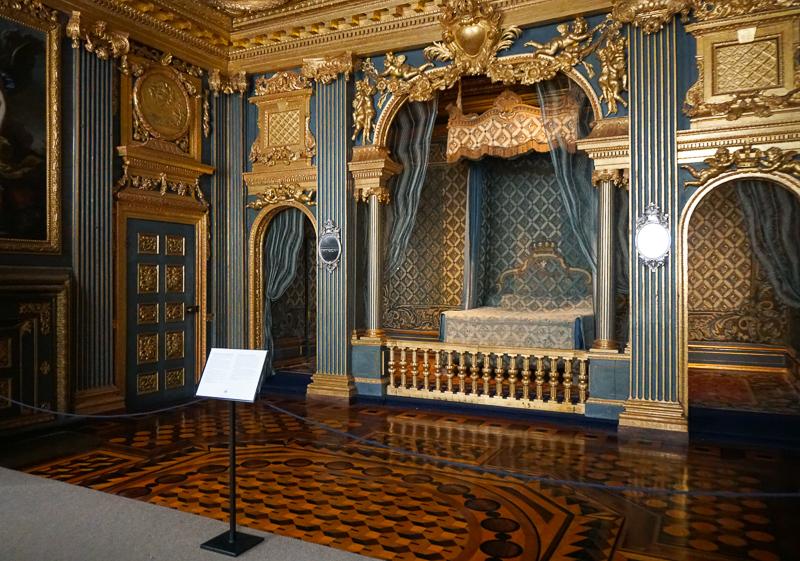 Hedvig Eleonora's bedchamber at Drottningholm Palace Sweden
